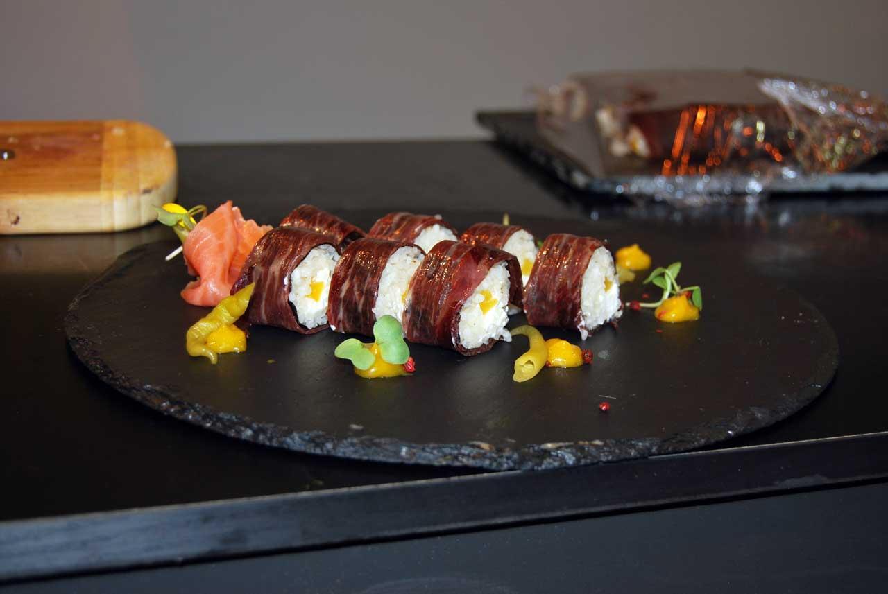 Sushi con Cecina