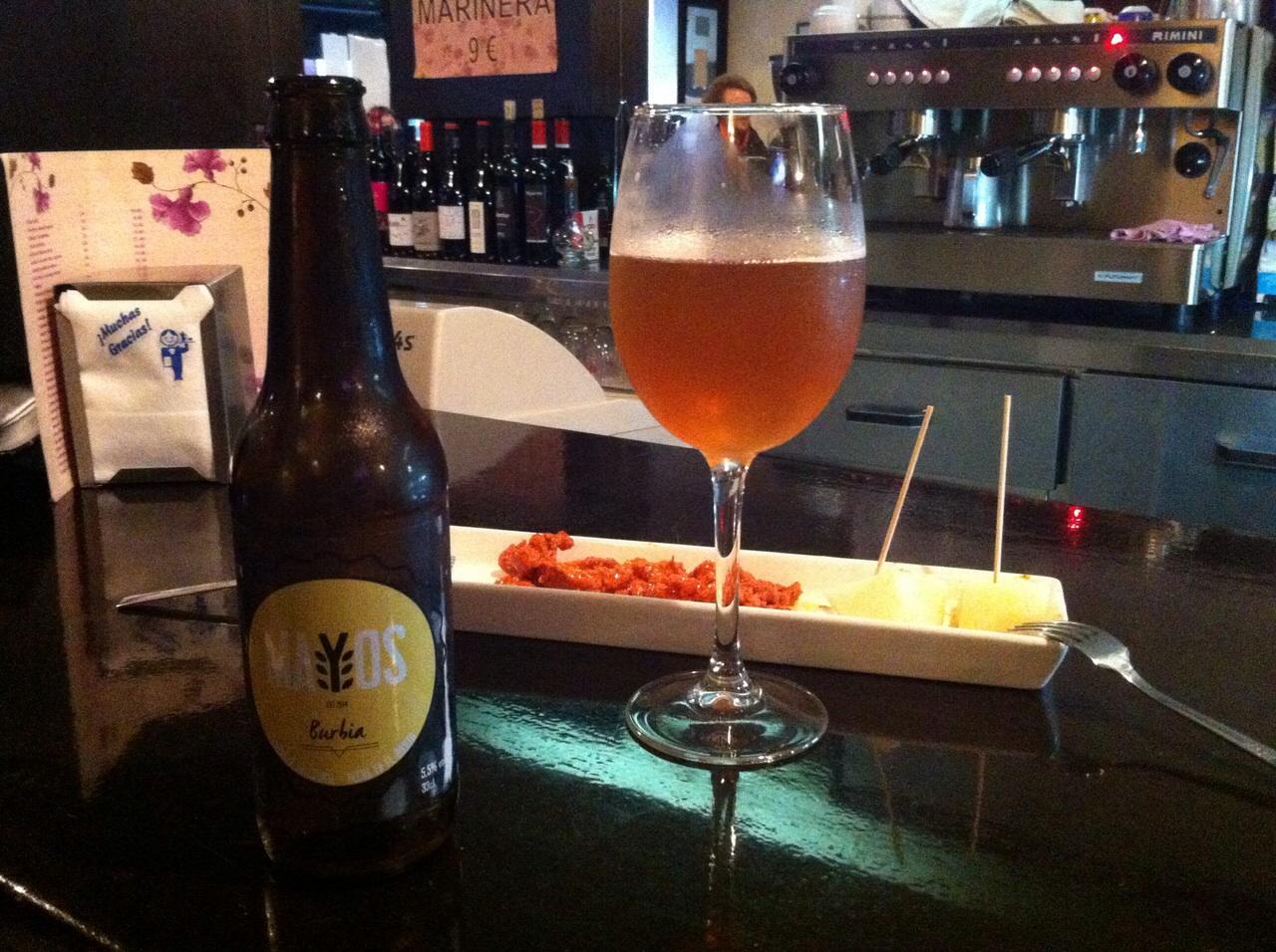Cerveza Burbia en La Perla