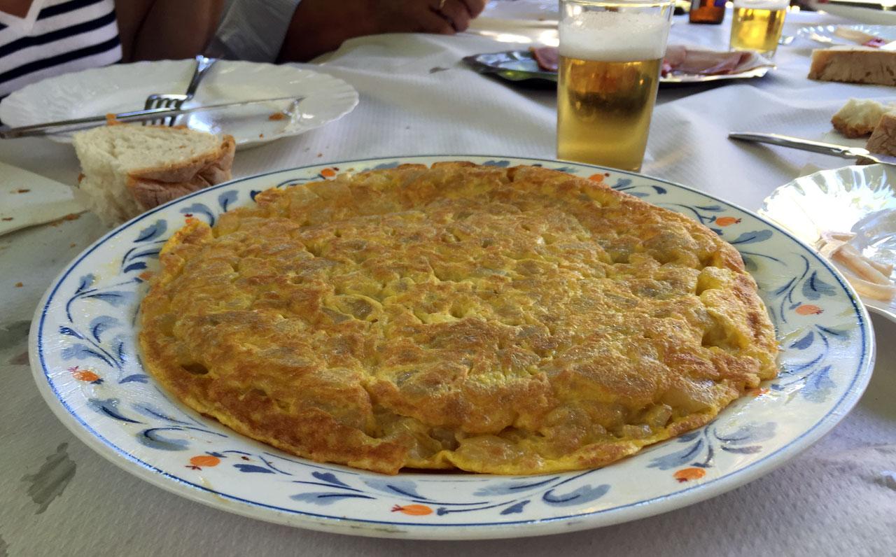 Tortilla de patata del Restaurante los Pescadores, Sobrado
